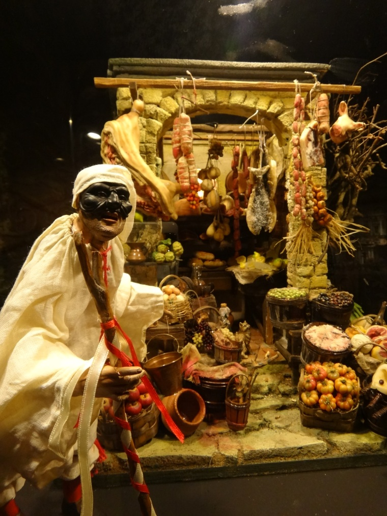 "Even Pulcinella is part of the Presepe (Nativity) Pulcinella is a classical character from the ""commedia dell'arte"" and is a traditional character in the Neapolitan puppetry both contemporary with the art of Nativity craft in the 17th and 18th centuries."