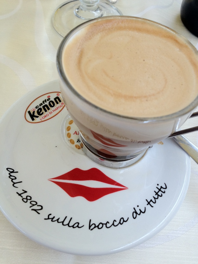 "Coffee time in Naples is anytime, I take mine macchiato (with a dash of foam) if you are watching the line ask for ""dietor"" a low calorie non aspartame sweetener  because they will assume you will drink your coffee with sugar."