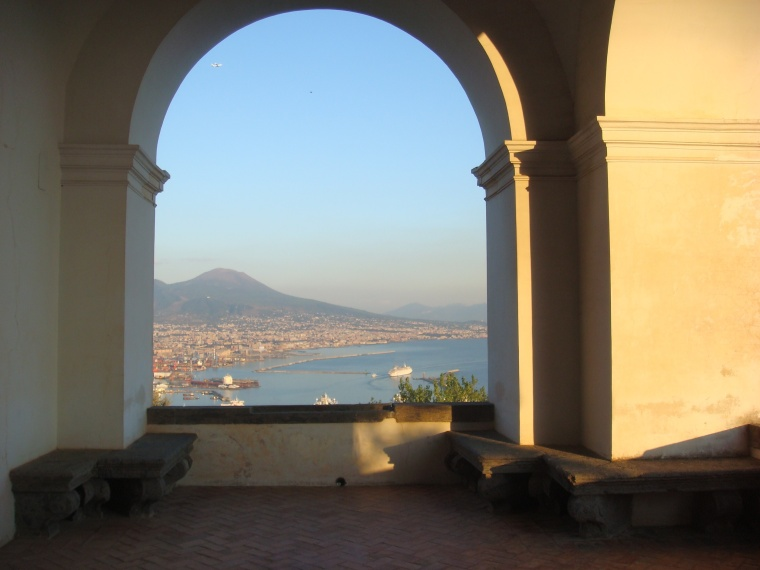 A room with a view from The cloisters of San Martino in Naples