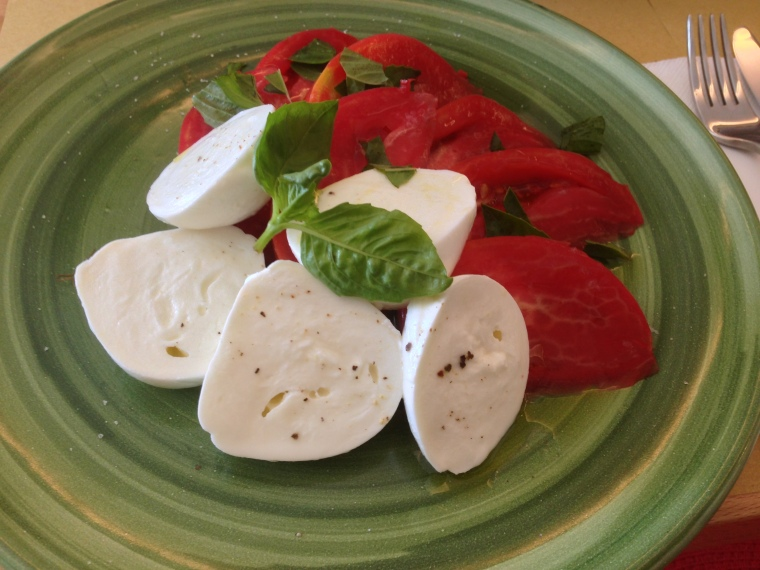 Mozzarella di Bufala.  I stopped at Next Café in Positano to savor this fresh traditional soft cheese eaten only within a day or so of being made, solely from the milk of water buffalo.  In the Amalfi coast the Buffalo mozzarella is produced in Tramonti.