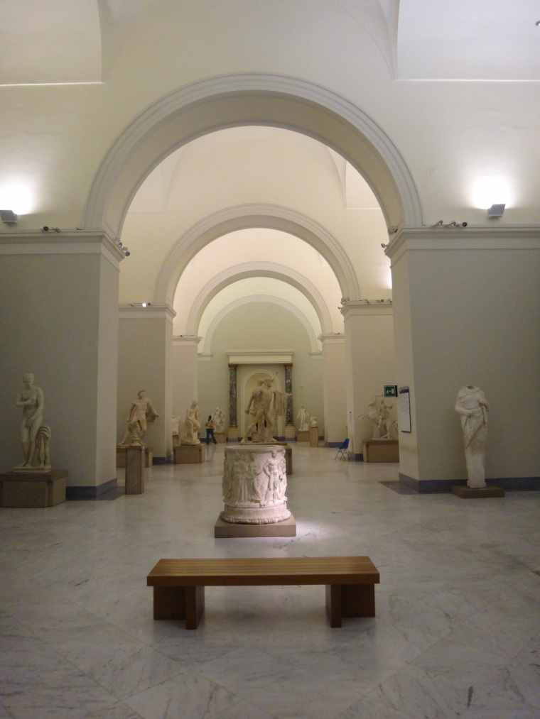 Many sculptures from Pompeii and Herculaneum were removed from the original site and placed at the Archaeological Museum of Naples, Pompeiian mosaics and frescoes are also  preserved in the Museum and date from the 2nd century BC to AD 79.