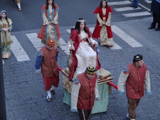 The Procession during the Three Kings festivities at the Piazetta of Vico