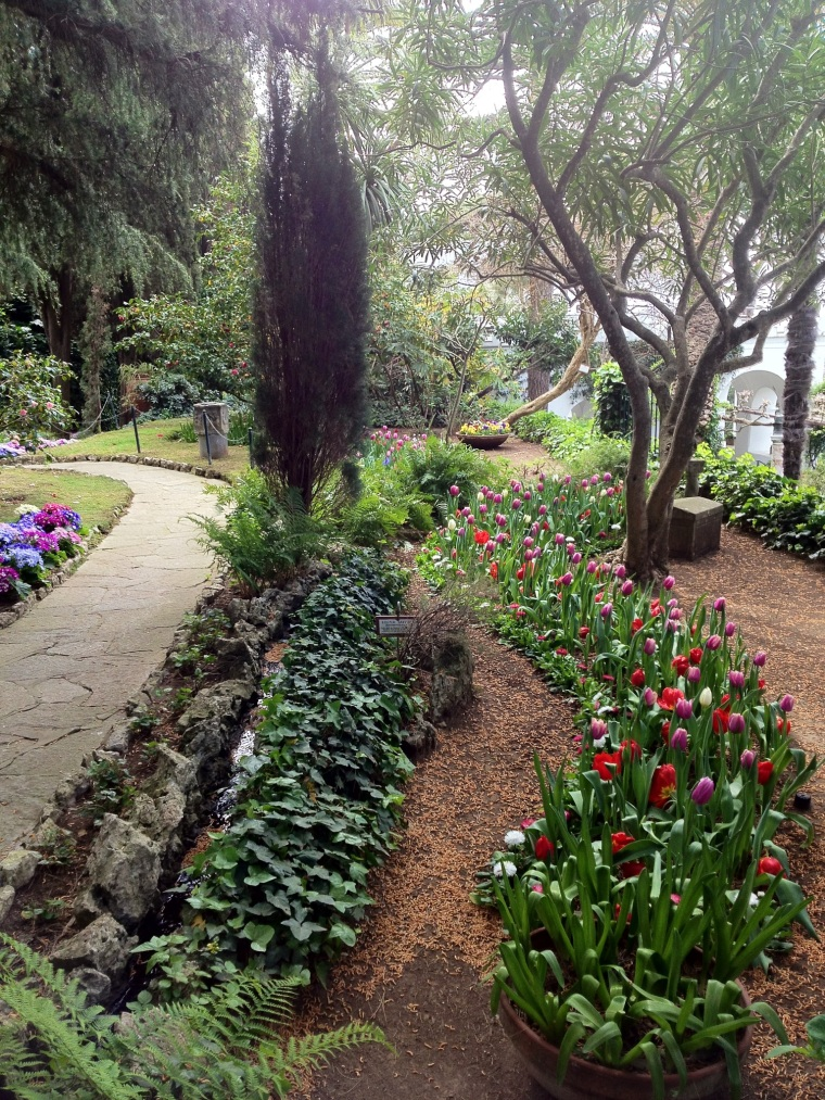 The gardens at Villa San Michelle in Anacapri