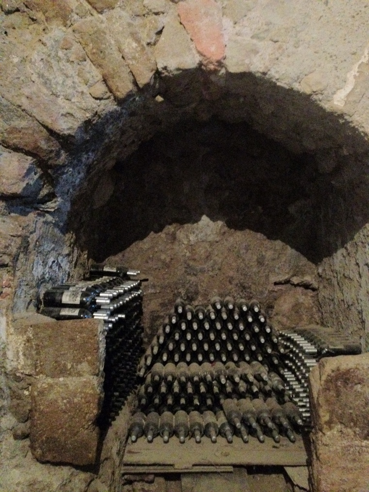 The ancient cave inside La Sibilla winery produces excellent wines featured in AIS Duemilavini and Slow Food's Guide to the wines of Italy