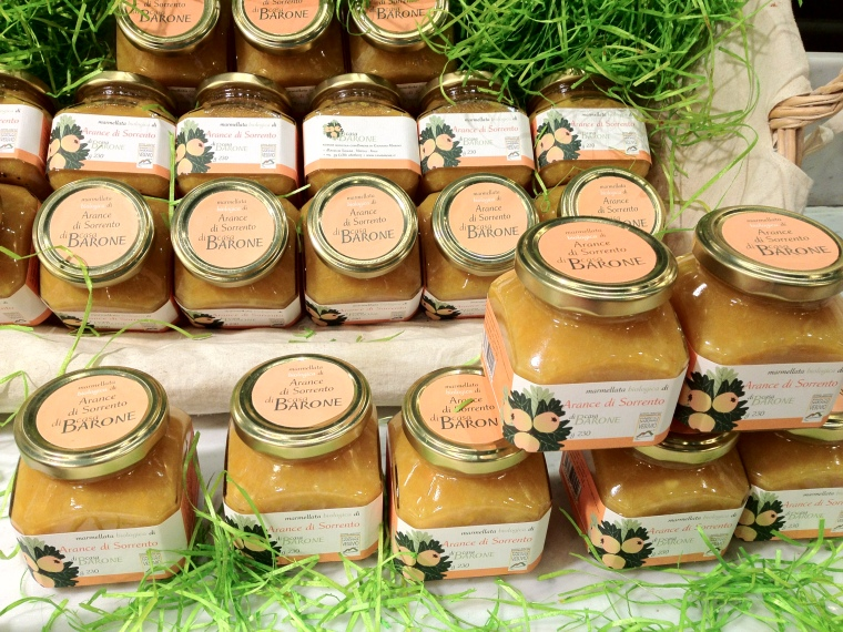 Organic grown oranges from Sorrento are used to make this excellent jam produced by Casa Barone approved by The Slow Food Commission