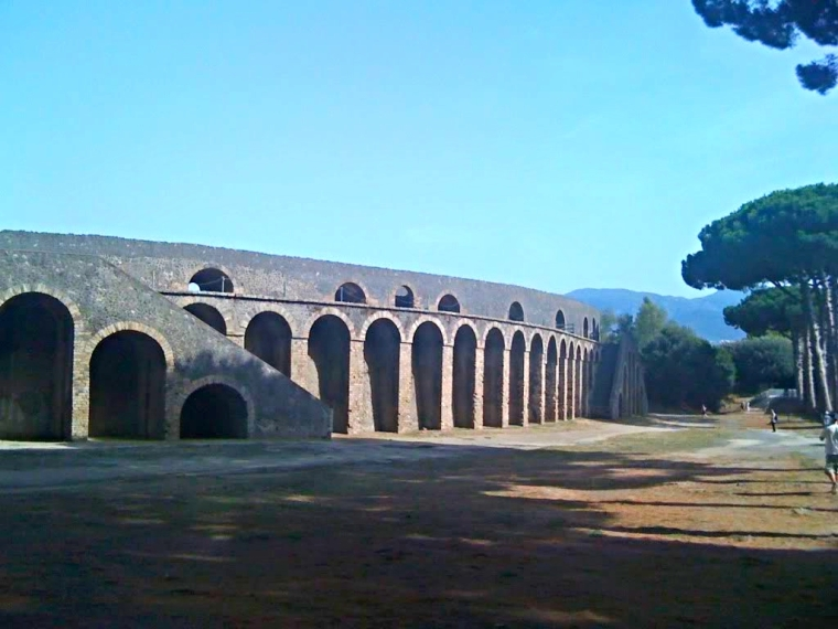 The Amphitheatre, the oldest of its kind in existence, was used for gladiatorial combat and could hold 20,000 people.  The stone tiers were separated in to different sections for the various social classes.