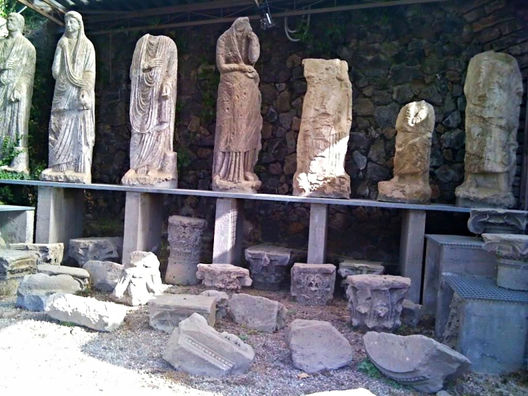 Statues found in the streets of Pompeii
