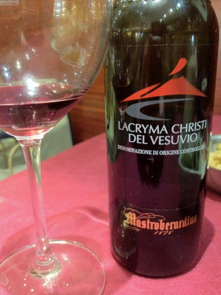 The land around volcanoes are rich in alkali and phosphorus and is extremely fertile.  Lacryma Christi is a great wine produced in the slopes of the Vesuvius.
