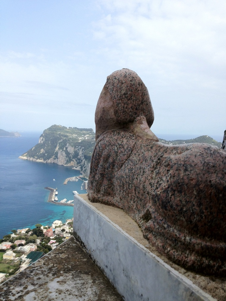 The Etruscan sphinx at Villa San Michelle