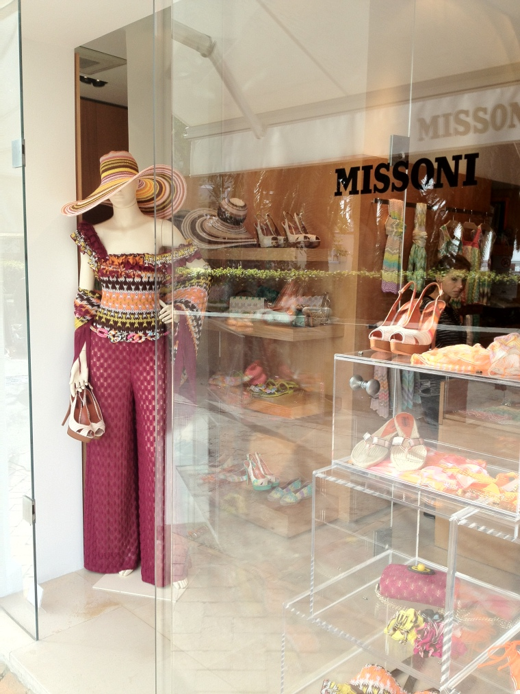 The Missoni boutique right next to the historic Hotel La Palma