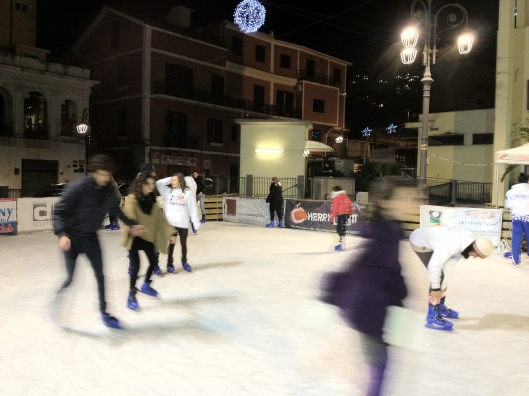 Skating on ice in Vico Equense