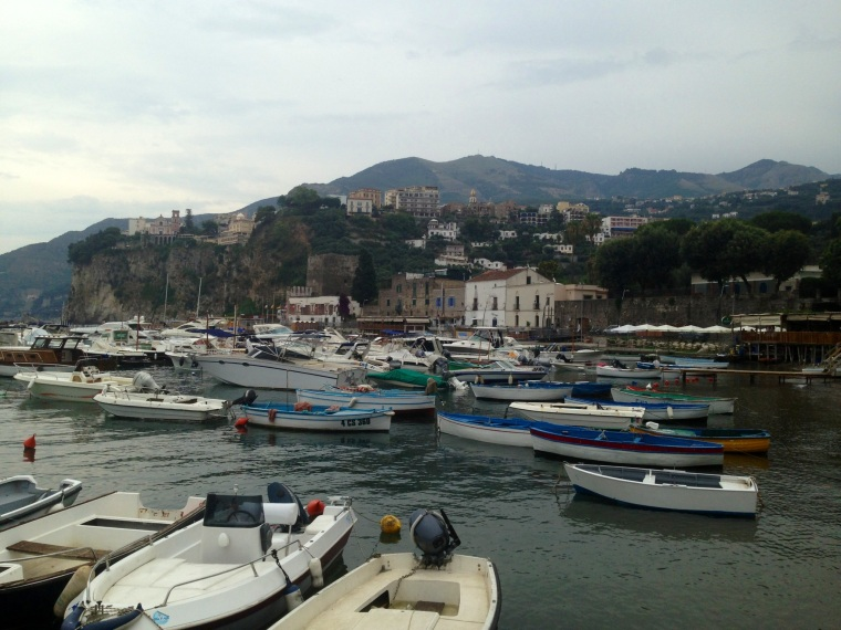 The colorful harbour of Vico Equense just at walking distance from the Saracen Tower.