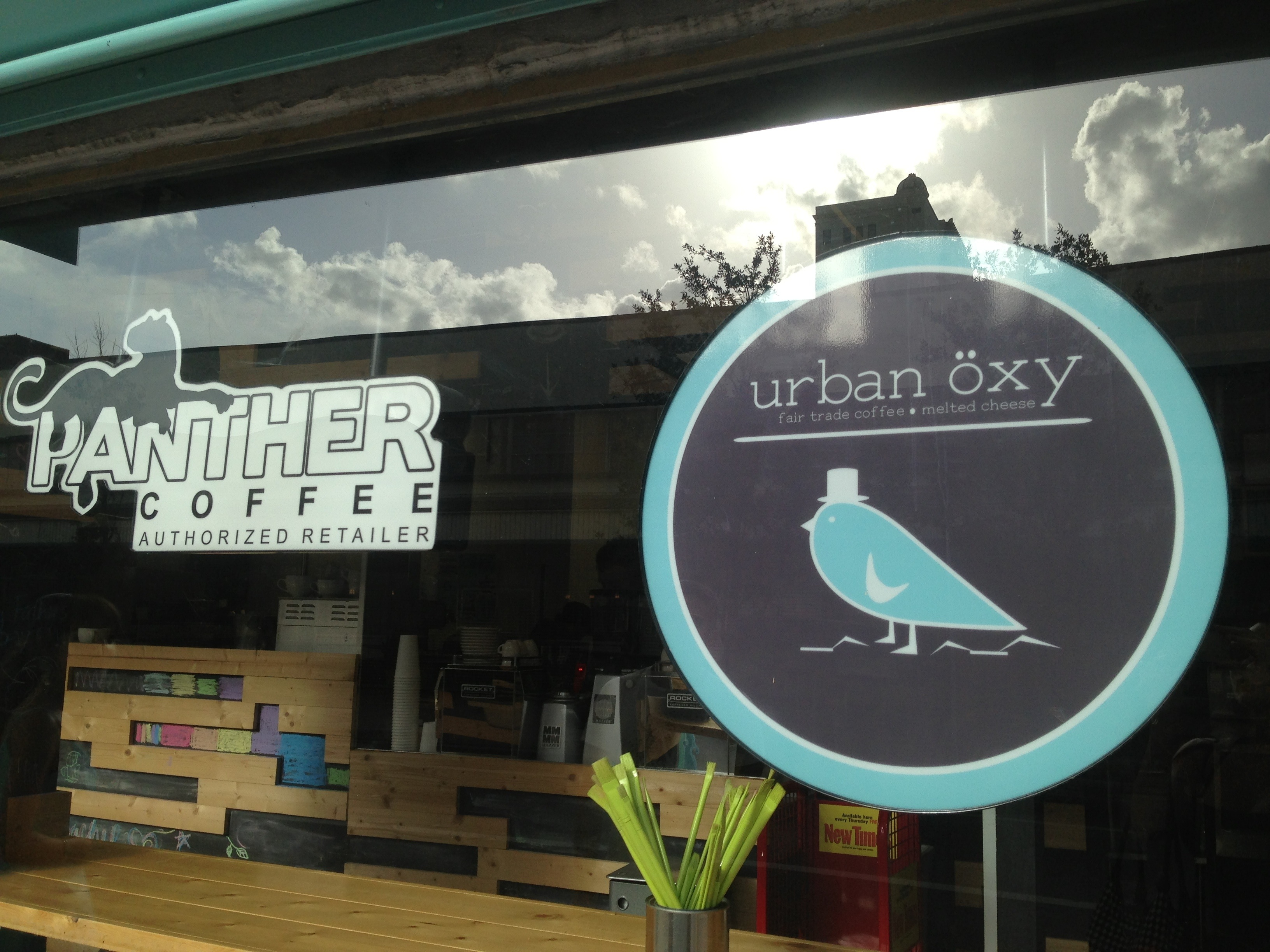 The Urban Oxy serves Panther coffee, a Miami based specialty coffee roaster