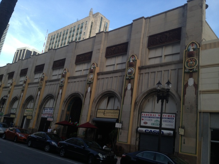 The Shoreland Arcade Building constructed on the Beaux Arts architectural style,  very present in the heart of Downtown Miami