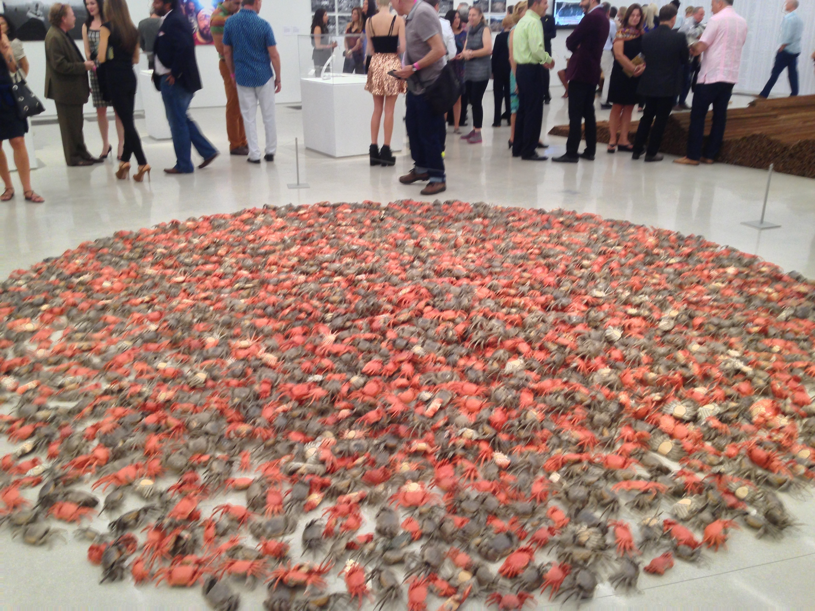 Piles of crabs installation by Chinese Master Ai Weiwei during the Opening reception of the PAMM