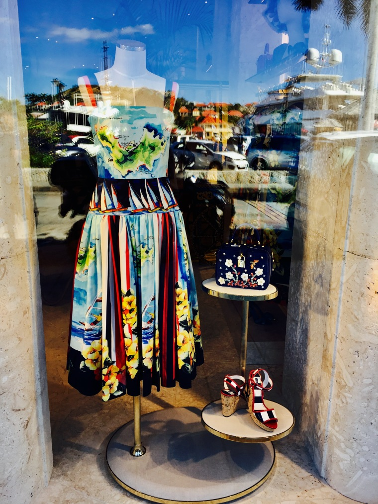 The Dolce & Gabanna loves St Barth collection at the DG flagship store in Gustavia